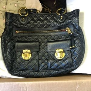 Marc Jacobs quilted black leather purse